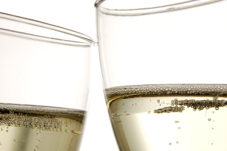 two glasses of sparking wine Stock Photo - 8677700