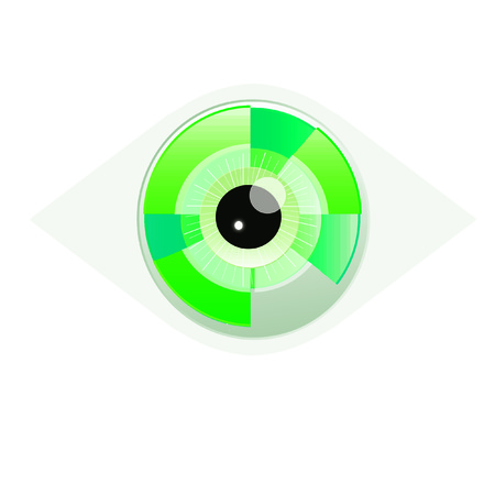 eye green: Ojo Verde Foto de archivo