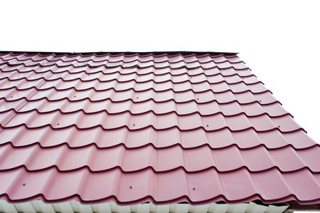 channeled: part of roof made of corrugated iron