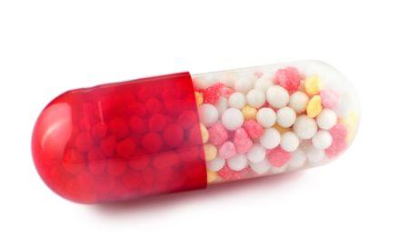 a coloured medicine capsule, a super macro shot Stock Photo - 6895498