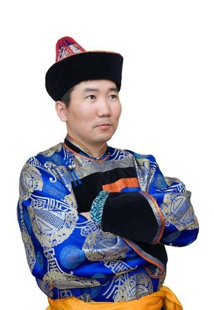 national costume: a buryat (mongolian) man in a national costume