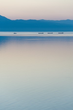 convoy: a convoy of a tug with barges at Baikal