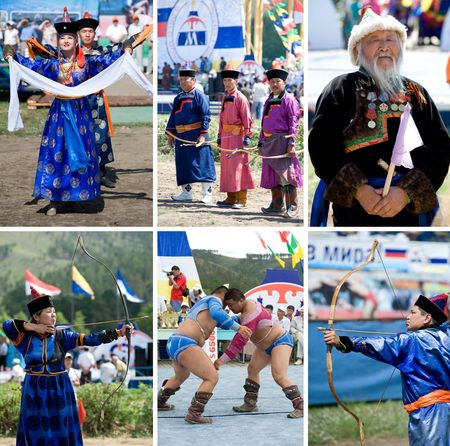 naadan: ULAN-UDE, RUSSIA - JULY 17: The 4th General Session of the World Mongolians Convention, July 17, 2010 in Ulan-Ude, Buryatia, Russia.