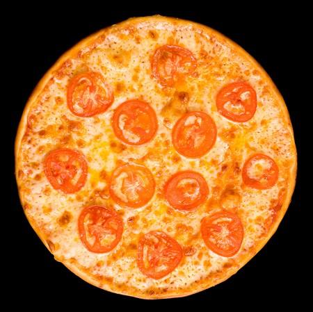 pizza with tomato circles photo