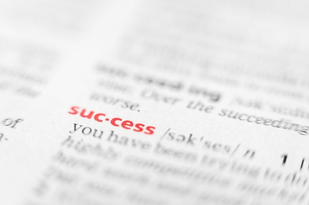 glossary: the word success in a glossary, macro