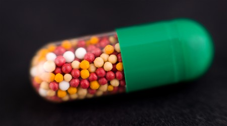 a medicine capsule, a super macro shot Stock Photo - 8062774