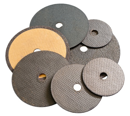 some various abrasive disks for metal cutting photo