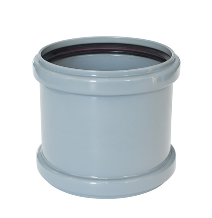 thermoplastic: a PVC fitting - a draining straight branch pipe