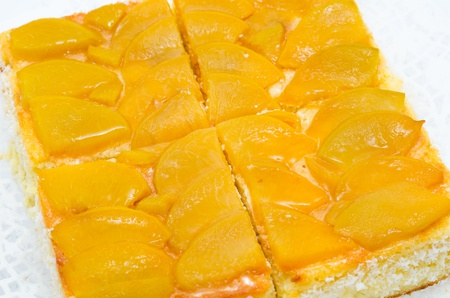 a fresh peach pie - a closeup shot Stock Photo - 10933411