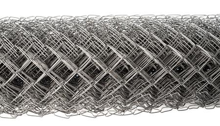 mesh fence: a wire mesh Rabitz, rolled, closeup shot