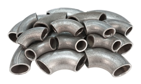 many zinked pipe bends - spare parts for pipelines