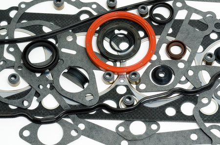 many gaskets - a kit for motor engines