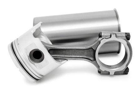 실린더: 디젤 엔진의 세부 - 커넥팅로드, 피스톤 및 실린더