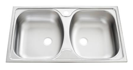 double sink: a steel double kitchen sink
