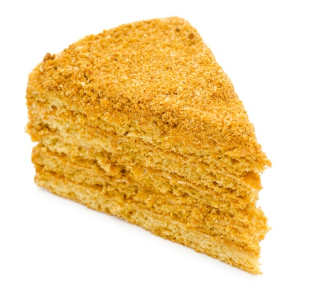 bestrew: a piece of a fresh honey cake