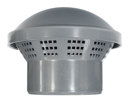 a protecting cap for a ventilation pipe, isolated photo