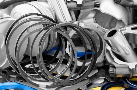 pistones: Detalles del motor de autom�viles - bielas, pistones, anillos, bujes