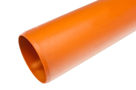 pvc: a PVC fitting - a straight draining pipe
