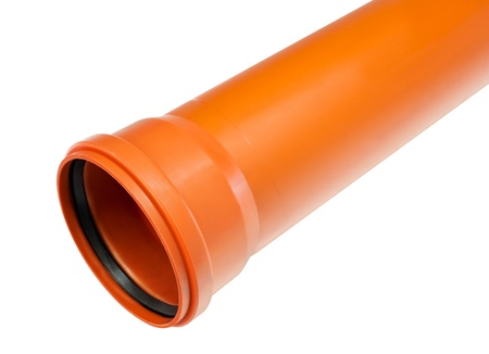 draining: a PVC fitting - a straight draining pipe with a flared end