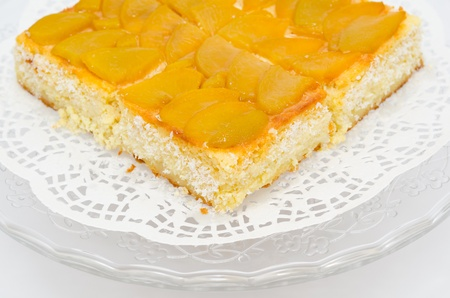 a fresh peach cake - a closeup shot Stock Photo - 11930262