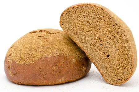 two loafs of fresh rye bread photo