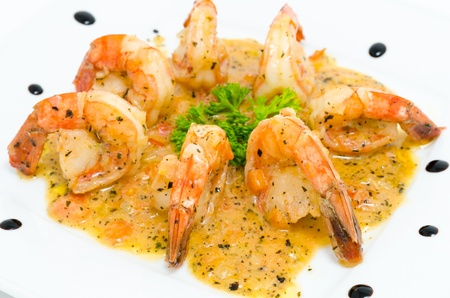seasoned: shrimps seasoned with onion and soy sauces