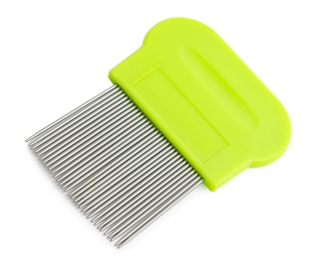 gear handle: a special tooth comb for lice and nits removing Stock Photo
