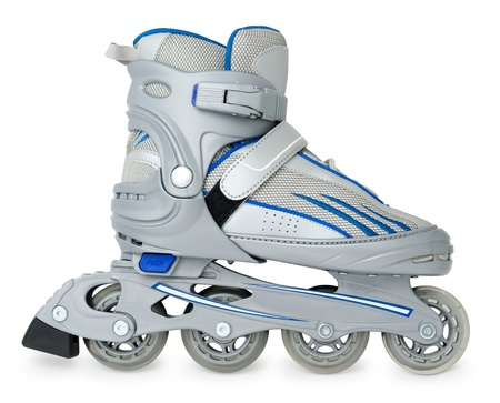 rollerblade: a new roller skate over white background Stock Photo