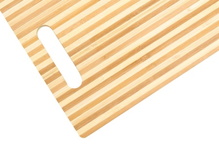 a bamboo cutting board, isolated, clipping path photo