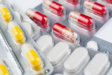 dof: a macro shot of medicines, narrow focus