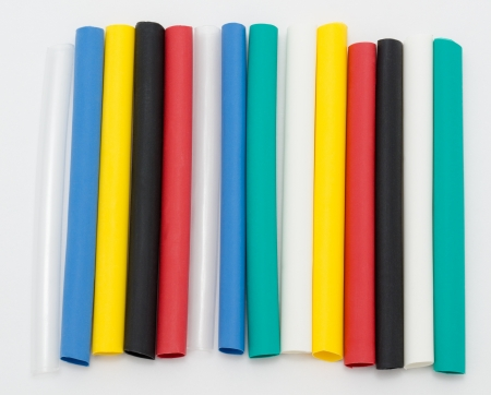 junction pipe: colourful tubes of shrinkable film for cable insulation
