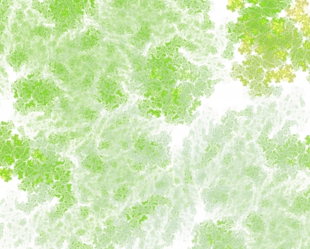 dissolving: abstract fractal background - green pattern resembling lichen or green biomass or dissolving paint