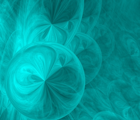 gradual: abstract fractal background of blue distorted spheres