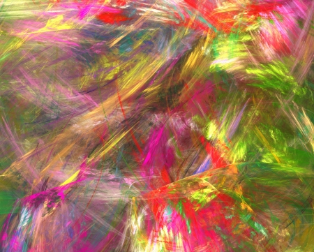 disorderly: abstract fractal background of colourful brush strokes