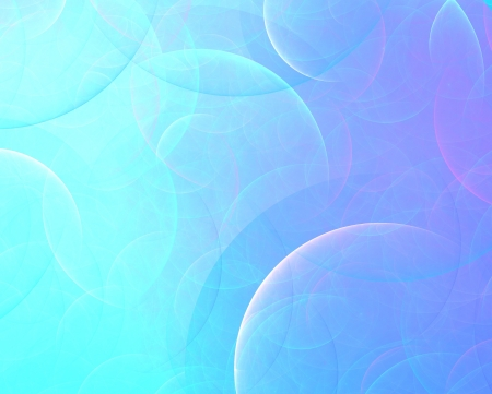 multilayer: abstract fractal background of transparent blue circles