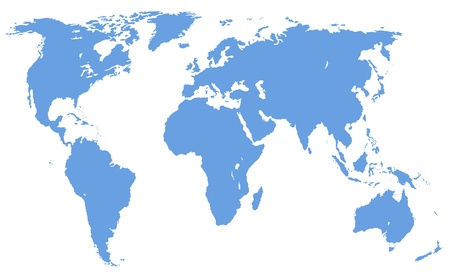approximate: a map of the world, isolated,