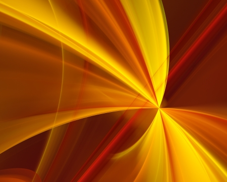 multilayer: abstract fractal background - orange and yellow rays