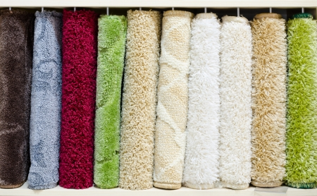 different relief carpet samples, a closeup shot Stock Photo - 14973889
