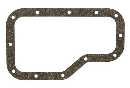 rubber gasket: a rubber cork gasket for a car gearbox, isolated Stock Photo