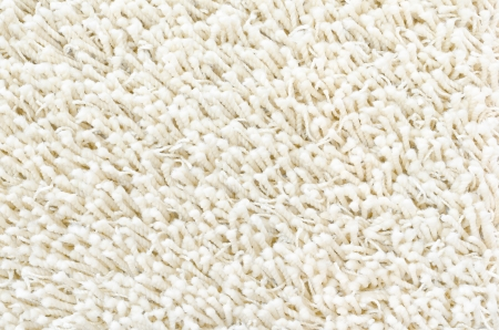 white shaggy carpet sample, a closeup shot photo