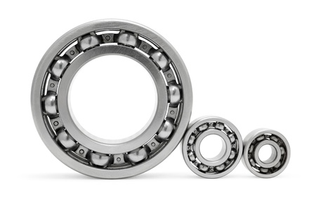 small details: three ball bearings Stock Photo