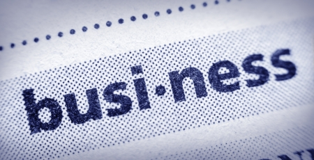 glossary: the word business in an English glossary, super macro