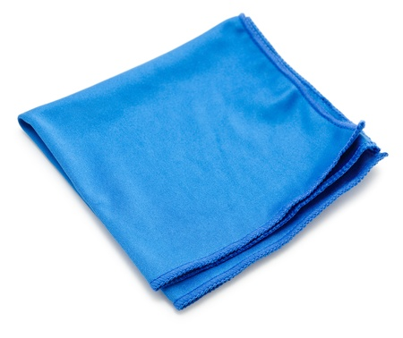 microfiber: a blue microfiber cleaning towel, over white background