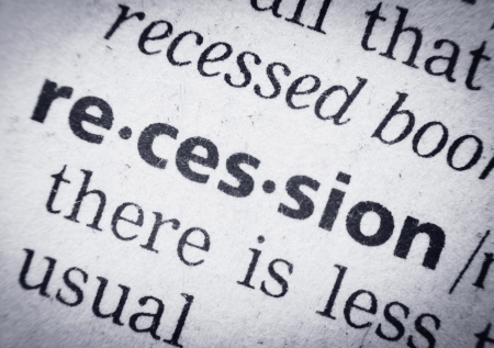 glossary: the word recession in a glossary, super macro