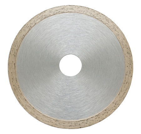 abrasive: an abrasive disc for metal cutting, isolated Stock Photo