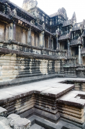 Angkor Wat is the most famous part of the ancient Khmer temple complex Angkor photo