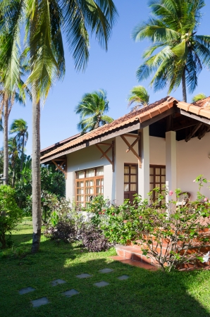 guest house among palm trees, southern Vietnam Stock Photo - 19382417