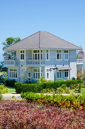 new hotel cottage in southern resort, sunny day Stock Photo - 19382576