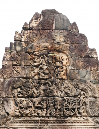bas relief at Ta Prohm temple in Angkor Stock Photo - 19382545