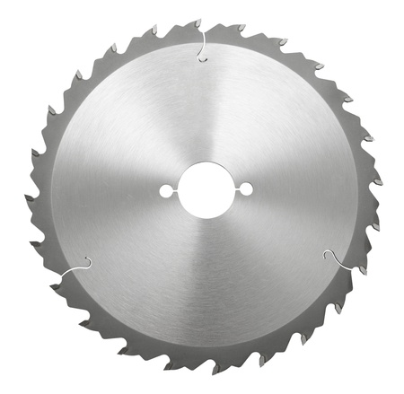 an abrasive disc for wood cutting, isolated Stock Photo - 19382716